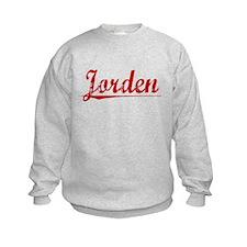 Jorden, Vintage Red Sweatshirt