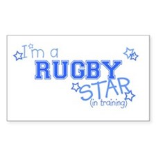 Rugby star Rectangle Decal