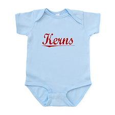 Kerns, Vintage Red Infant Bodysuit