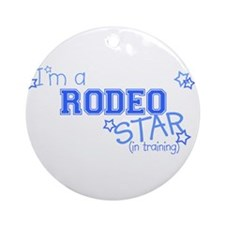Rodeo star Ornament (Round)