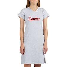 Kimber, Vintage Red Women's Nightshirt