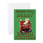 Santa and the Mrs. Masonic Card Greeting Cards (Pk