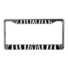 Zebra print 8 License Plate Frame