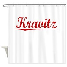 Kravitz, Vintage Red Shower Curtain