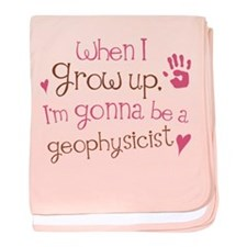 Kids Future Geophysicist baby blanket