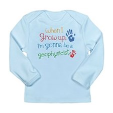 Kids Future Geophysicist Long Sleeve Infant T-Shir