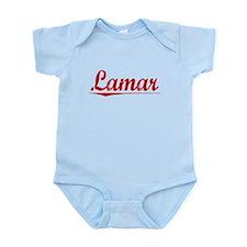 Lamar, Vintage Red Infant Bodysuit