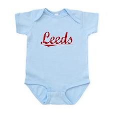 Leeds, Vintage Red Infant Bodysuit