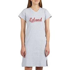 Leland, Vintage Red Women's Nightshirt