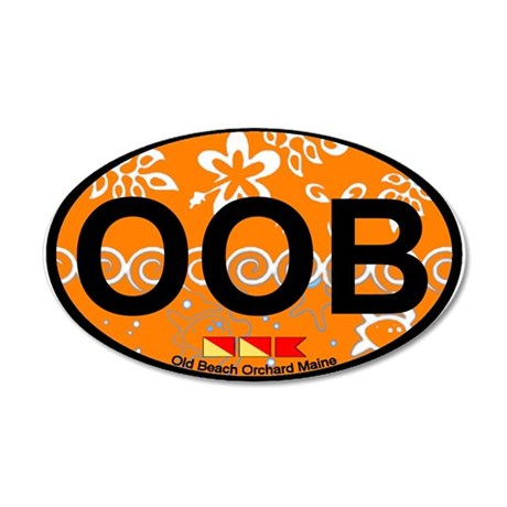 Old Orchard Beach ME - Oval Design. 20x12 Oval Wal