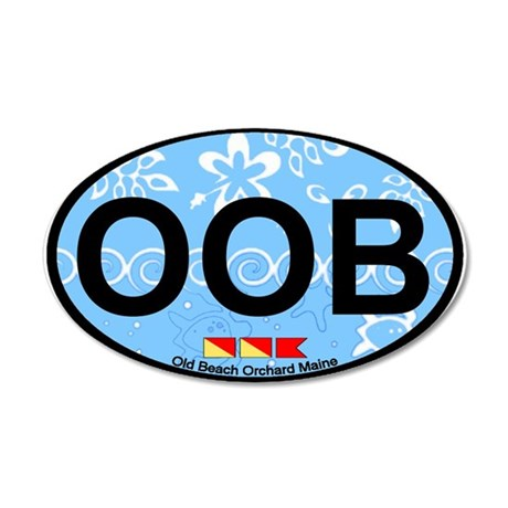 Old Orchard Beach ME - Oval Design. 35x21 Oval Wal