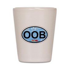 Old Orchard Beach ME - Oval Design. Shot Glass