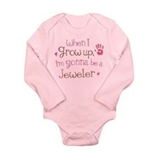 Kids Future Jeweler Long Sleeve Infant Bodysuit