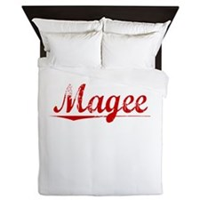 Magee, Vintage Red Queen Duvet