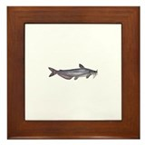 Blue Catfish Framed Tile