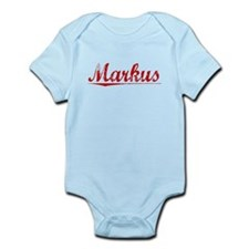Markus, Vintage Red Infant Bodysuit