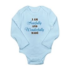 Cute Fearfully and wonderfully made Long Sleeve Infant Bodysuit