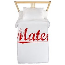 Mateo, Vintage Red Twin Duvet