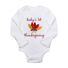 baby's first thanksgiving long Sleeve tee