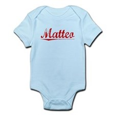 Matteo, Vintage Red Infant Bodysuit