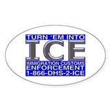 TURN 'EM INTO ICE - Oval Decal