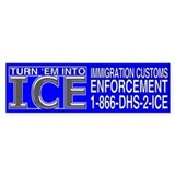 TURN 'EM INTO ICE - Bumper Bumper Sticker