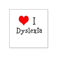 "3 I Dyslexia Square Sticker 3"" x 3"""