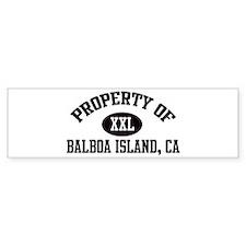Property of BALBOA ISLAND Bumper Car Sticker