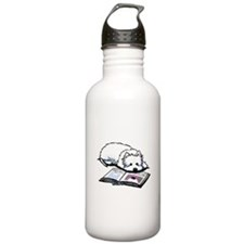 Book Lover Wendell Westie Water Bottle