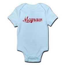 Mcgraw, Vintage Red Infant Bodysuit