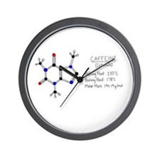 Caffeine Facts Wall Clock