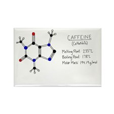 Caffeine Facts Rectangle Magnet