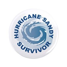 "Hurricane Sandy Survivor 2012 3.5"" Button (100 pac"