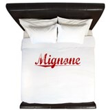 Mignone, Vintage Red King Duvet