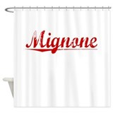 Mignone, Vintage Red Shower Curtain