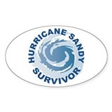 Hurricane Sandy Survivor 2012 Decal