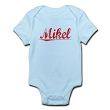 Mikel, Vintage Red Infant Bodysuit
