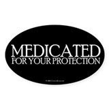 Medicated Oval Stickers