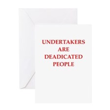 undertaker joke Greeting Card