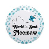 Worlds Best Meemaw Gift Ornament (Round)