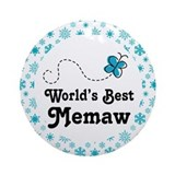 Worlds Best Memaw Gift Ornament (Round)