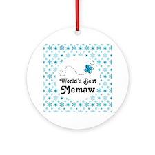 Worlds Best Memaw Gift Ornament (Round)