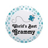 Grammy (Worlds Best) Ornament (Round)