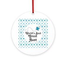 Worlds Best Great Aunt Ornament (Round)