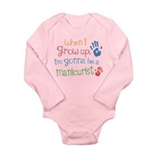 Kids Future Manicurist Long Sleeve Infant Bodysuit