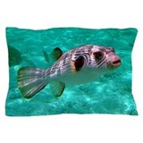 Puffer fish Throw Pillows