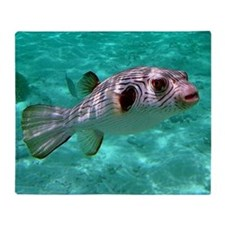 Striped Puffer Fish Throw Blanket