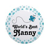 Worlds Best Nanny Ornament (Round)