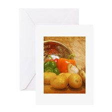 Cascading Vegetables Greeting Card