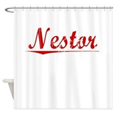 Nestor, Vintage Red Shower Curtain
